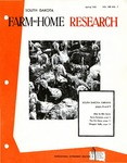 South Dakota Farm and Home Research by Agricultural Experiment Service