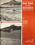South Dakota Farm & Home Research: 84th Annual Report by Agricultural Experiment Station, South Dakota State University