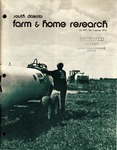 South Dakota Farm and Home Research by Agricultural Experiment Station, South Dakota State University