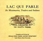 Lac qui Parle, Its Missionaries, Traders and Indians