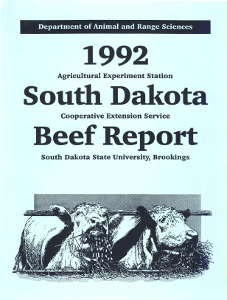 South Dakota Beef Report, 1992