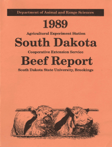 South Dakota Beef Report, 1989