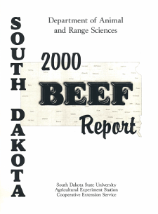South Dakota Beef Report, 2000