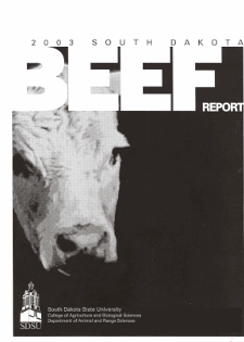 South Dakota Beef Report, 2003