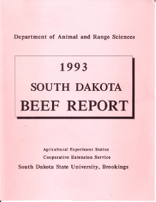 South Dakota Beef Report, 1993