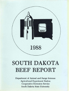 South Dakota Beef Report, 1988