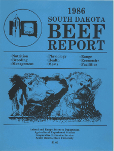 South Dakota Beef Report, 1986