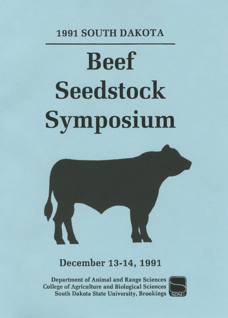 South Dakota Beef Seedstock Symposium, 1991