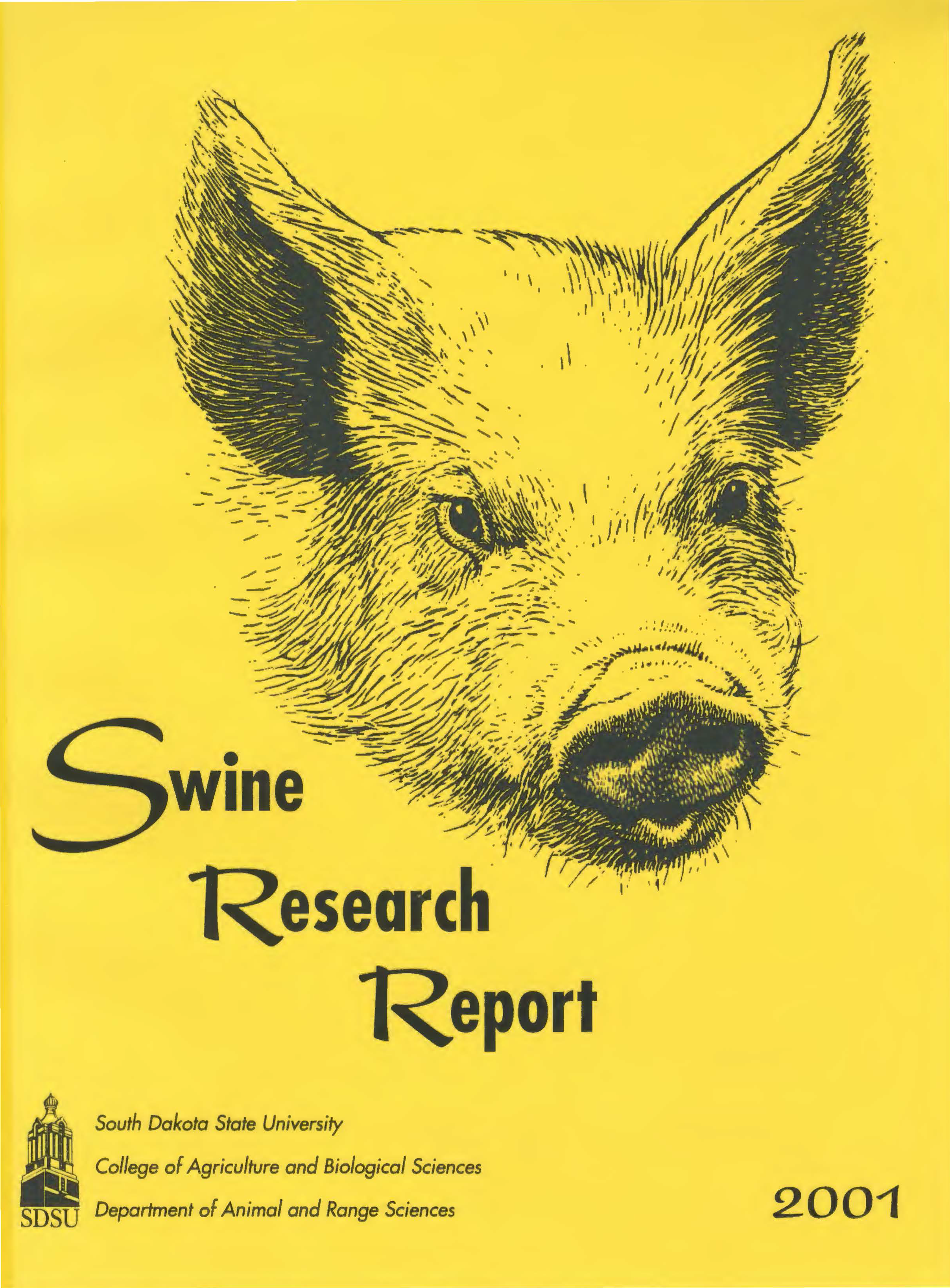 South Dakota Swine Research Report, 2001
