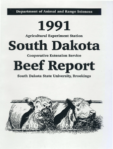South Dakota Beef Report, 1991