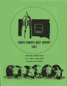 South Dakota Beef Report, 1987