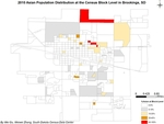 2010 Asian Population Distribution at the Census Block Level in Brookings, SD