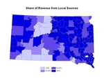 South Dakota Share of Revenue from Local Sources