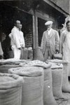 N.E. Hansen at a bazaar in Fushun, Manchuria in northern China in 1924