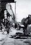 Busy street in Fushun, Manchuria in northern China in 1924