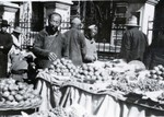 Bazaar in Fushun, Manchuria in northern China in 1924