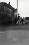 Men working on a Trans-Siberian Railway train car enroute to Manzhouli, Manchuria in northern China in 1924