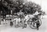 N.E. Hansen in a rickshaw in northern China in 1924