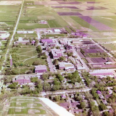 Aerial photograph of South Dakota State College
