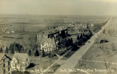 Early Campus View Looking North from the Campanile, circa 1930