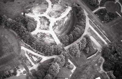 McCrory Gardens, Aerial view, undated