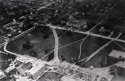 Aerial view of South Dakota State College, circa 1921