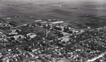 Aerial view of South Dakota State College, 1940