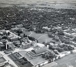 Aerial view of South Dakota State College, 1947