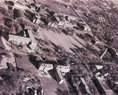 Aerial view of South Dakota State College, 1952