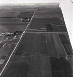 Aerial view of South Dakota farm and farmland