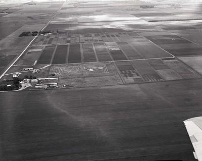 Aerial view of South Dakota farm and farmland