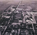Aerial view of South Dakota State College, 1953
