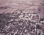 Aerial view of South Dakota State College, 1955