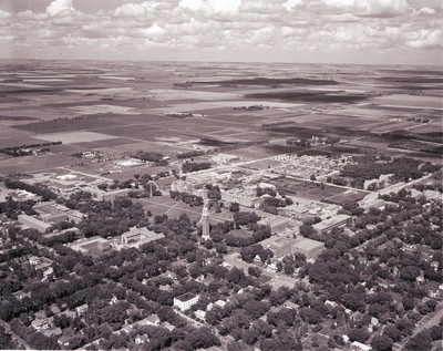 Site of the New Football Stadium at South Dakota State College, 1961
