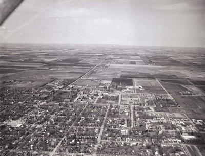 Aerial view of South Dakota State University, 1965