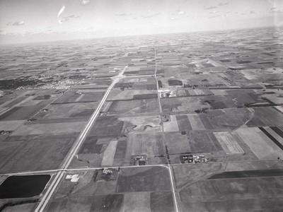 Aerial view of Brookings, South Dakota, 1967