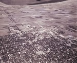 Aerial view of South Dakota State University and Brookings, South Dakota, 1967