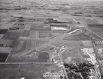 Aerial view of the Brookings, South Dakota airport, 1967