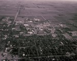 Aerial view of South Dakota State University, 1971