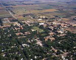 Aerial view of South Dakota State University, 1973