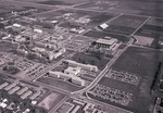 Aerial view of South Dakota State University, 1974