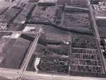 Aerial view of McCrory Gardens, 1975