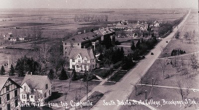 Early Campus View Looking North from the Campanile, circa 1930s