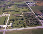 Aerial view of McCrory Gardens, 1982 by South Dakota State University