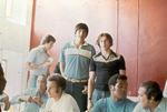 South Dakota and Cuban basketball players dining in Cuba