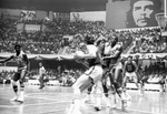 South Dakota State University basketball players playing Cuban national team
