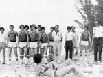 South Dakota basketball delegation to Cuba players and coaches on Cuban beach