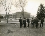 Groundbreaking of Coughlin Campanile on the campus of South Dakota State College, 1928 by South Dakota State University