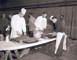 Blue Key Smoker meal preparation, 1951