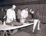 Blue Key Smoker meal preparation, 1951